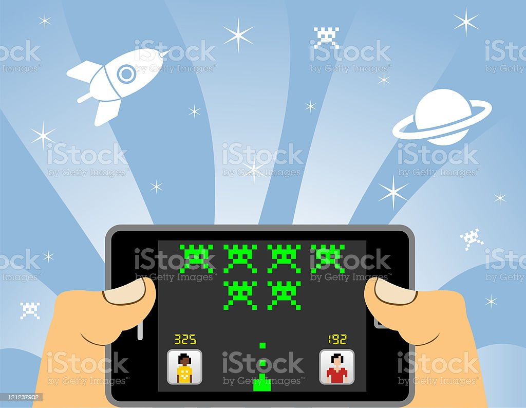 smart phone online gaming royalty-free stock photo