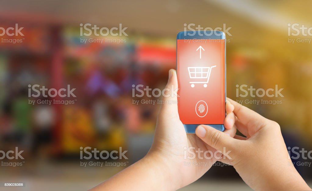 Smart phone payment concept stock photo