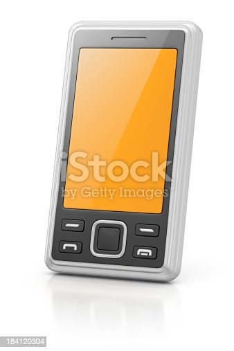 isolated smart phone.3d render.