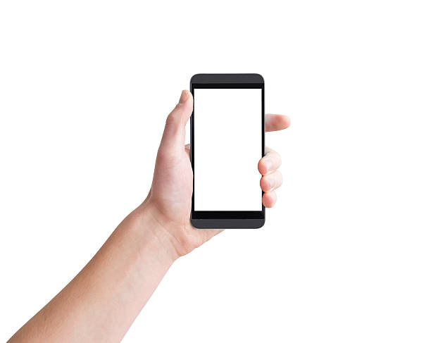 téléphone mobile intelligent - gaucher photos et images de collection