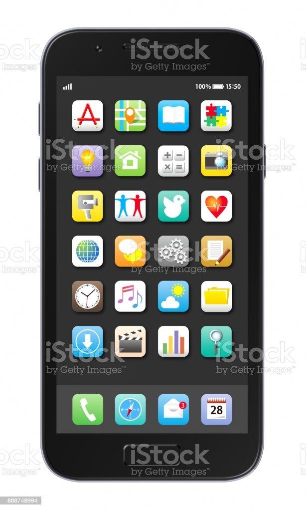 Teléfono inteligente  - Foto de stock de Aplicación para móviles libre de derechos
