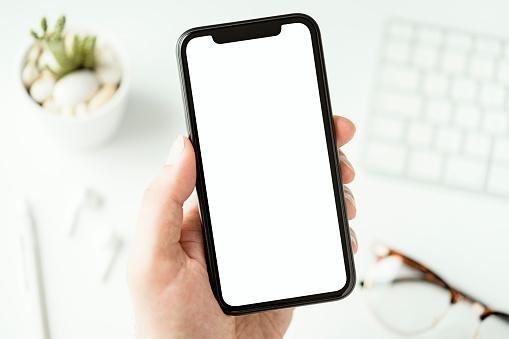 Smart phone screen mockup, template
