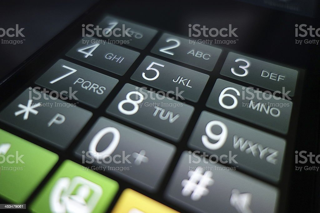 smart phone virtual keyboard close up shot stock photo