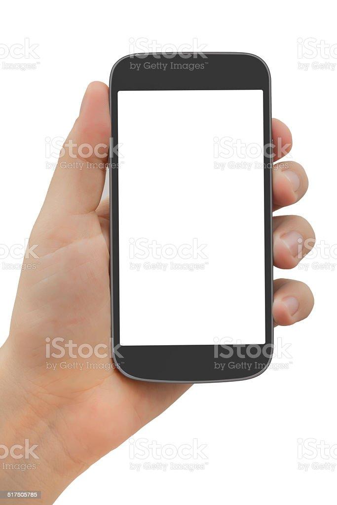 Smart phone white screen stock photo