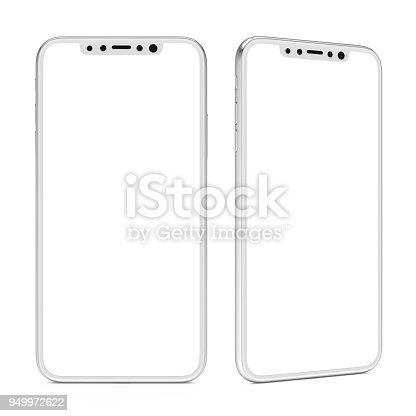istock Smart Phone with Blank Screen Isolated 949972622