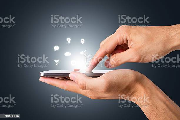 Smart Phone With Blank Screen Stock Photo - Download Image Now