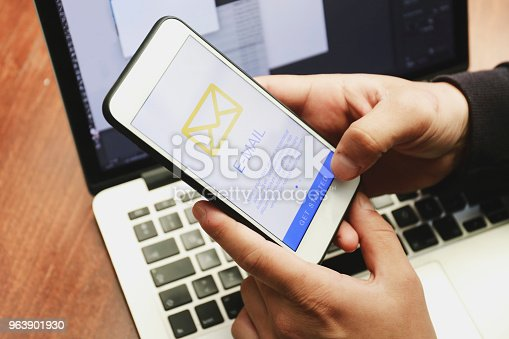 Smart phone with email icon