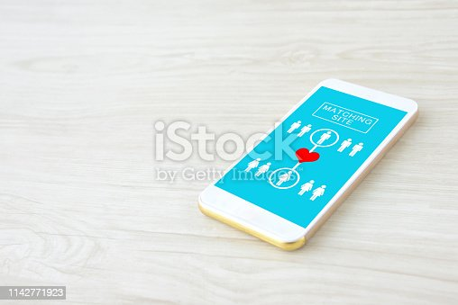 1125634019 istock photo Smart phone with matching site display 1142771923