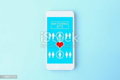 1125634019 istock photo Smart phone with matching site display 1166327312