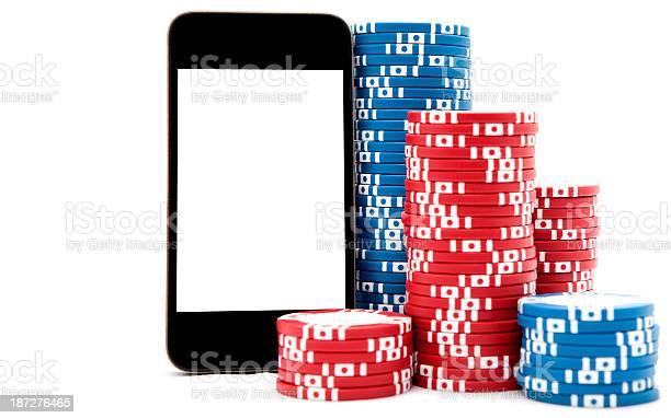 Smart Phone With Poker Chips Stock Photo Download Image Now Istock