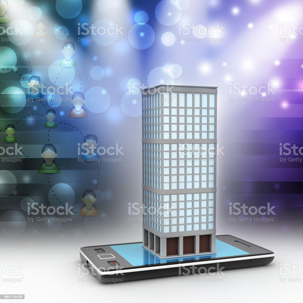 smart phone with real estate concept royalty-free stock photo