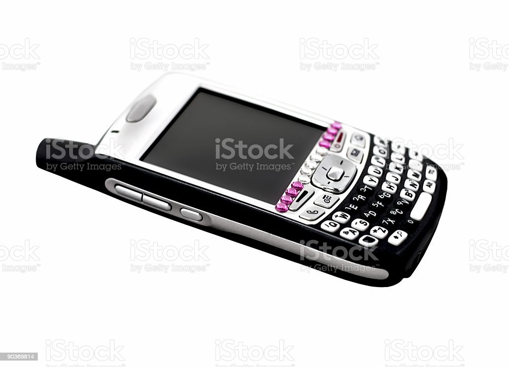 PDA Smart Phone with Sparkly Bling stock photo