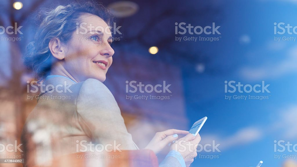 Smart phones in our life stock photo
