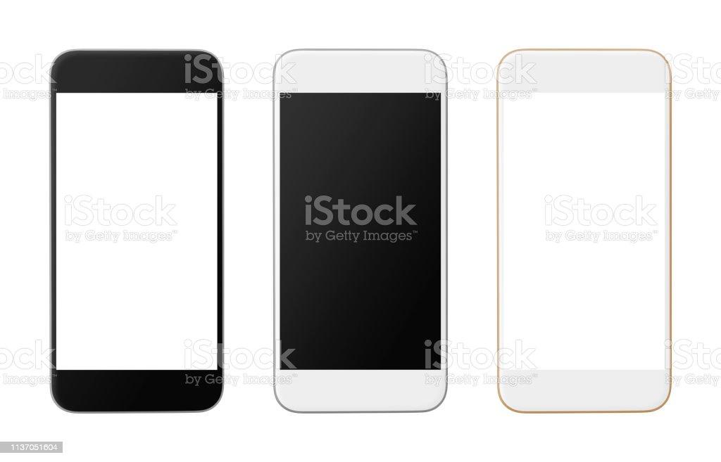 Teléfonos inteligentes (con caminos interiores y exteriores) foto de stock libre de derechos