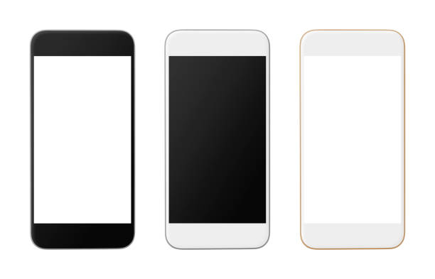 Smart Phones Smart Phones Variation isolated on white iphone stock pictures, royalty-free photos & images