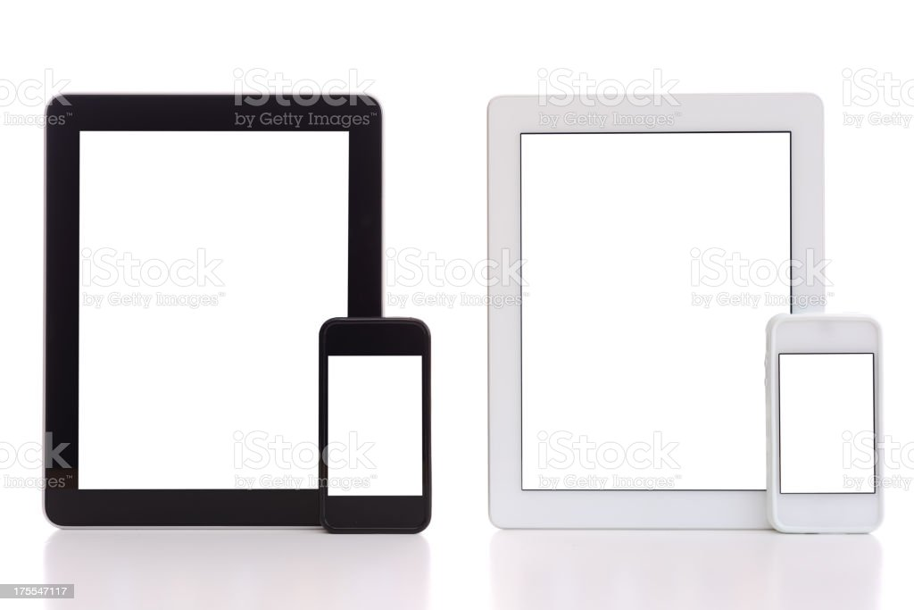 Smart phones & tablet pcs stock photo