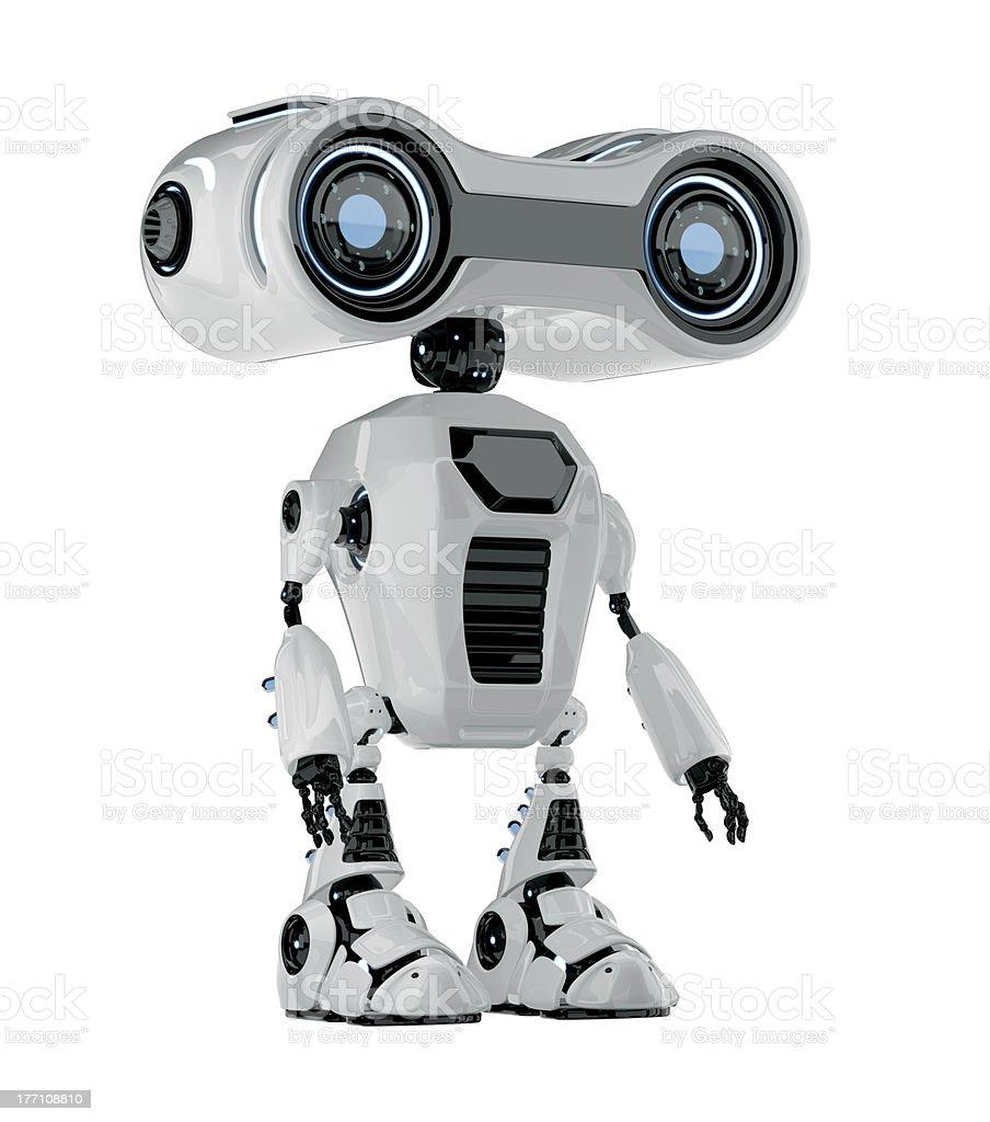 Smart retro robotic toy stock photo
