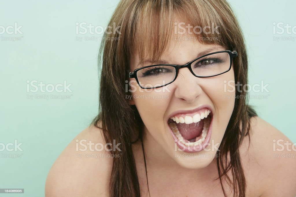 Smart Scream stock photo