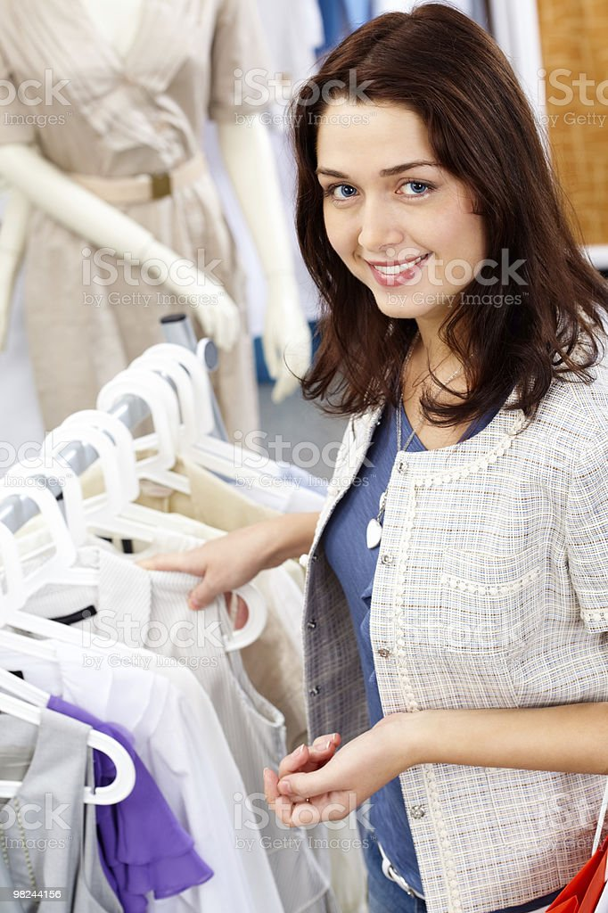 Smart shopper royalty-free stock photo
