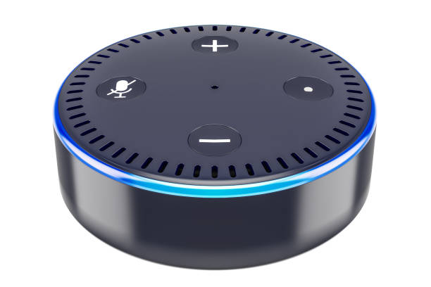 Smart speaker, 3D rendering Smart speaker, 3D rendering verbaasd stock pictures, royalty-free photos & images