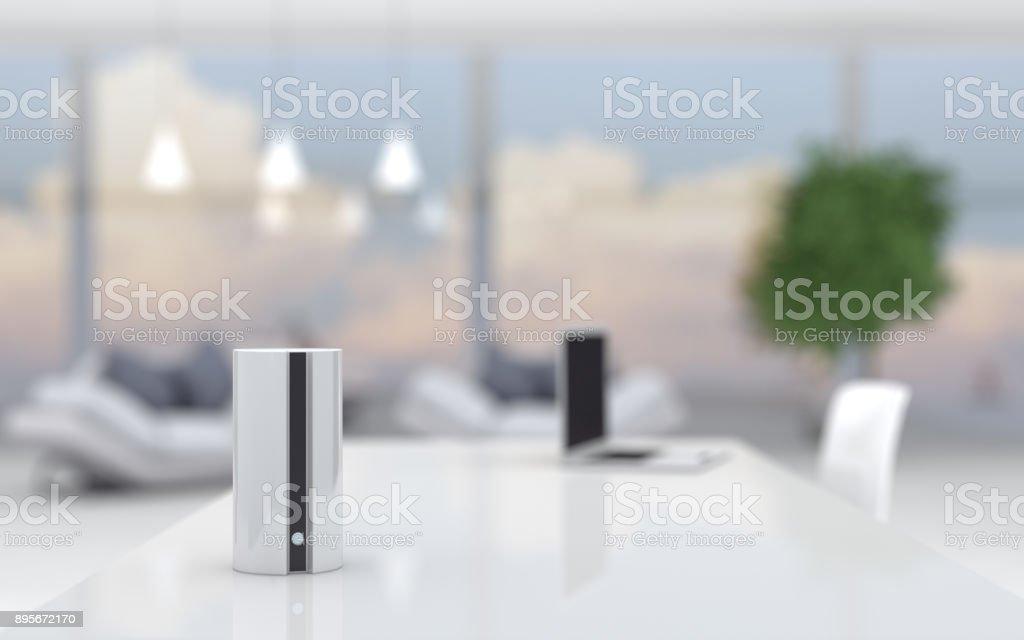 Smart Lautsprecher im home-office – Foto