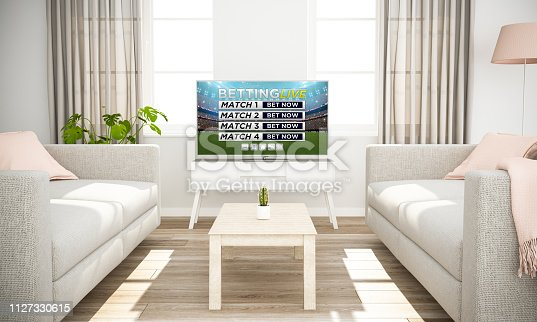 istock smart television live betting on scandinavian minimal interior 1127330615