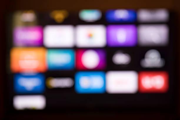 Smart tv background stock photo