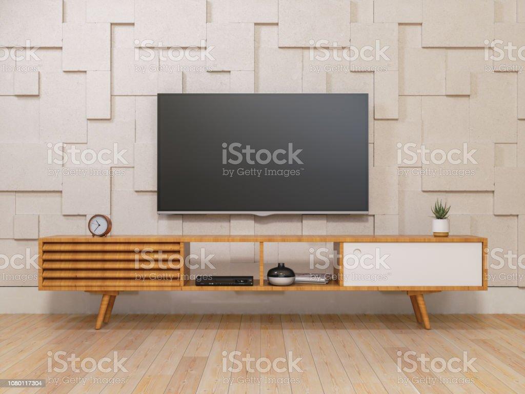 Smart Tv auf dem TV-Ständer – Foto