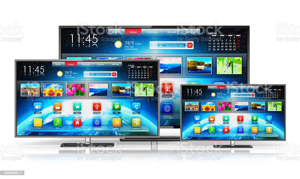 Smart TV stock photo
