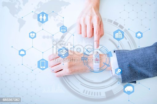 istock smart watch, wearable device  concept 685367062