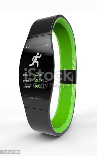 istock Smart Watch – Wearable Mobile Device - Fitness App 525435355