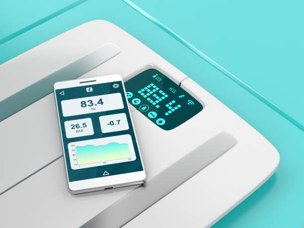 Smart weight scale and smartphone - Photo