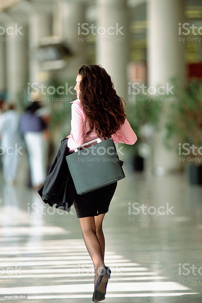 Smart woman with hand luggage royalty-free 스톡 사진