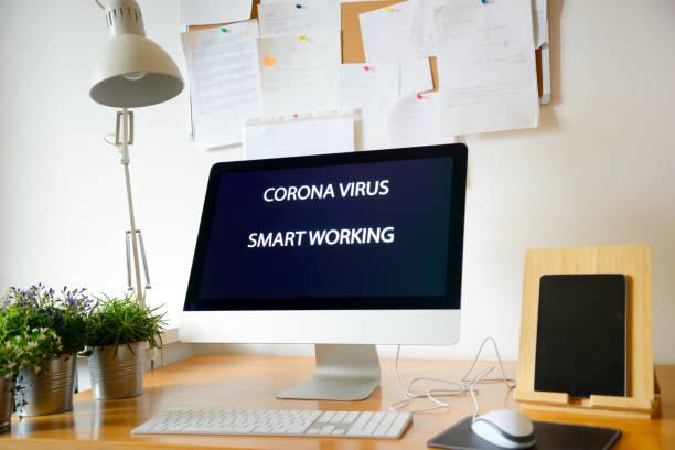 Intelligentes Arbeiten während der Coronavirus-Epidemie – Foto