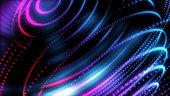 istock Smart world technology 3D digital futuristic background. World orbit neon light big data AI cyber space. 1266452423
