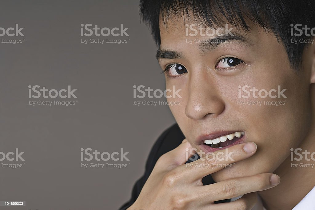 Smart young business man royalty-free stock photo