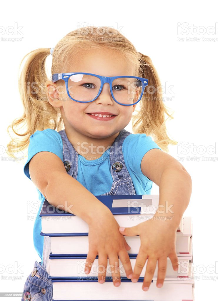 Smart young girl royalty-free stock photo