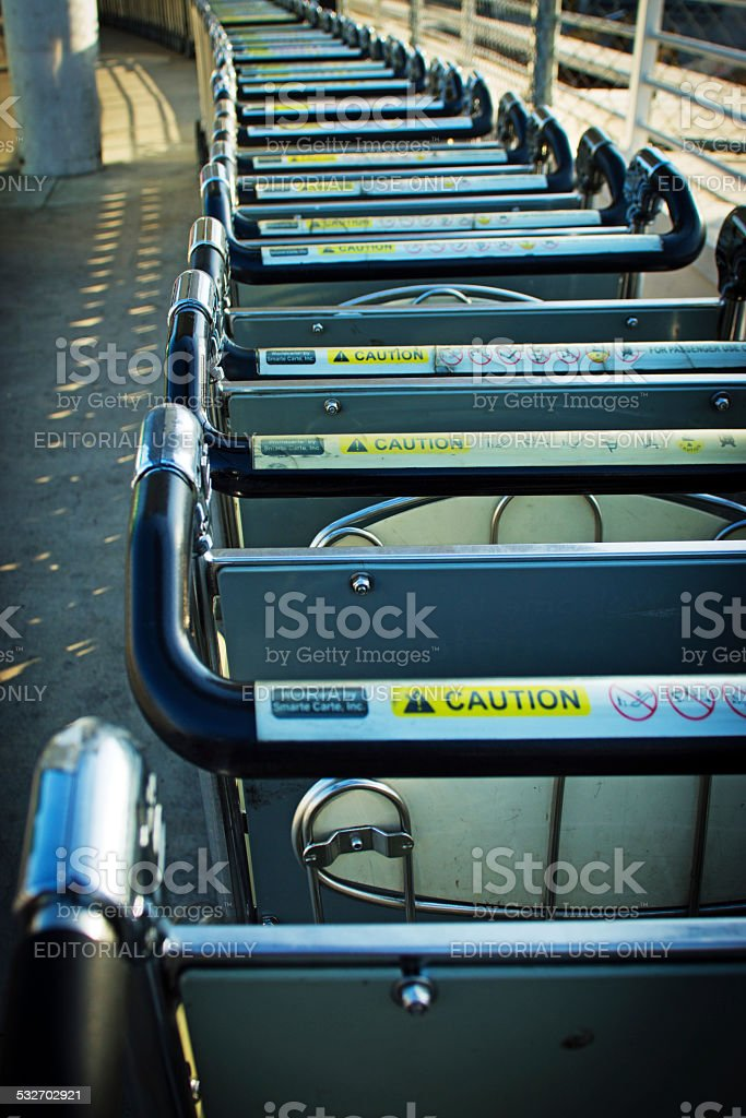 Smarte Carte Baggage trolleys stock photo