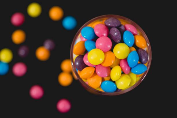 smarties in jar stock photo
