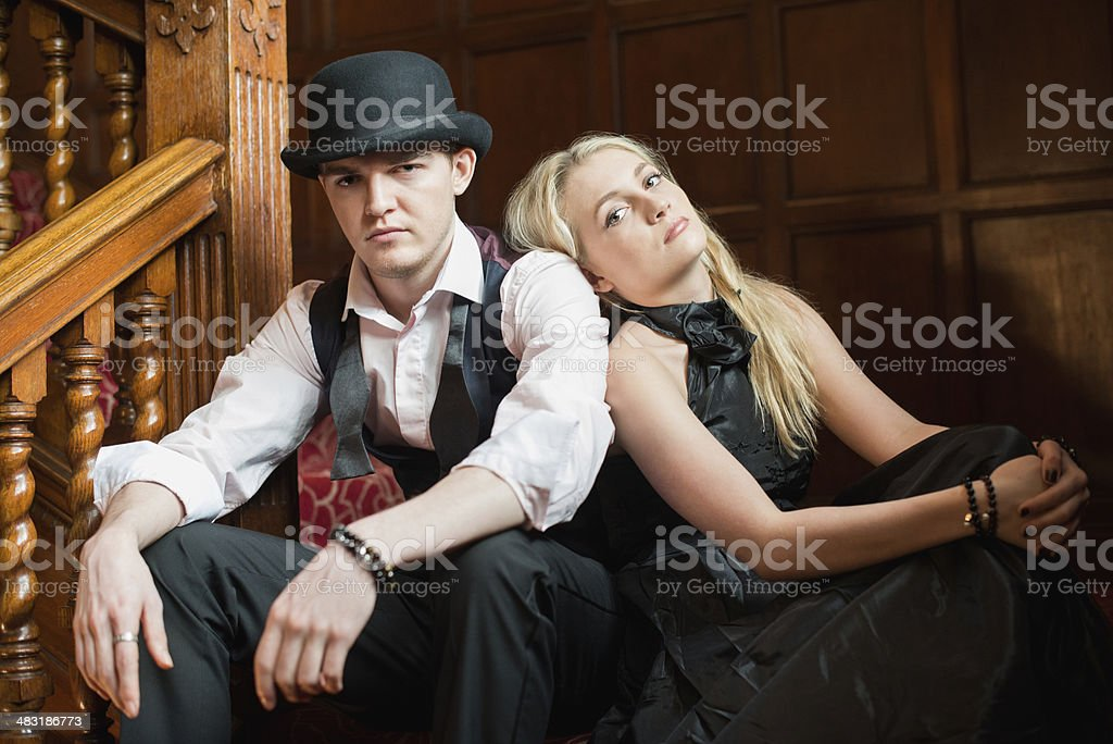 Smartly Dressed Young Couple stock photo