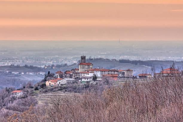 Smartno village, Brda, Slovenia stock photo