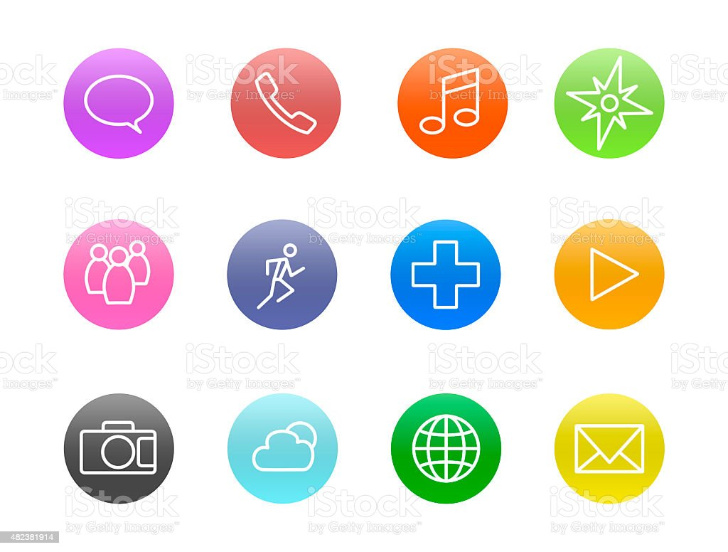 Smartphone Application Icons stock photo
