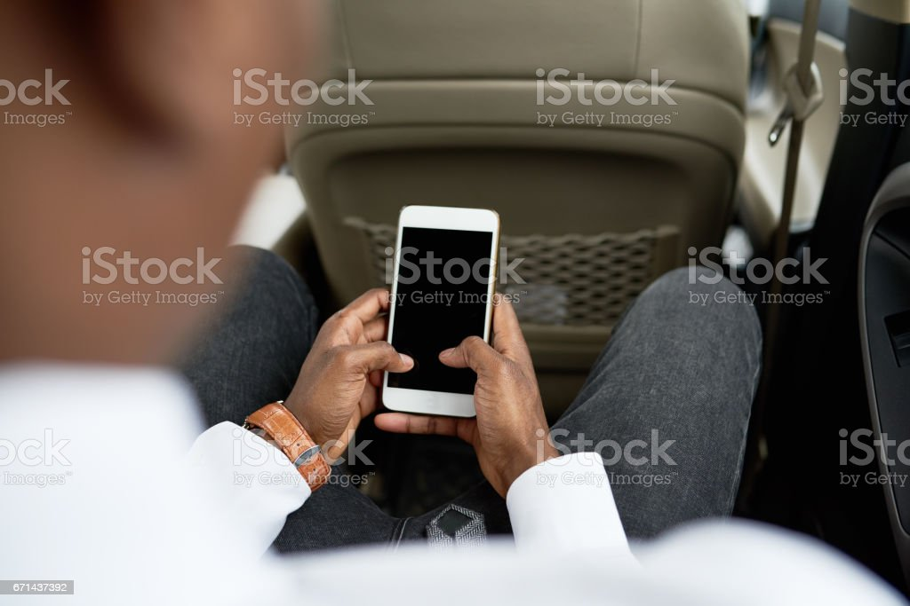 Smartphone as device for business people stock photo