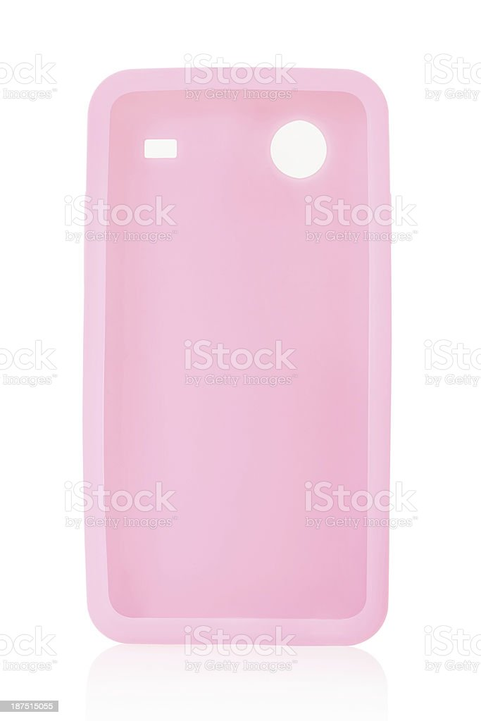 Smartphone back cover in silicone stock photo