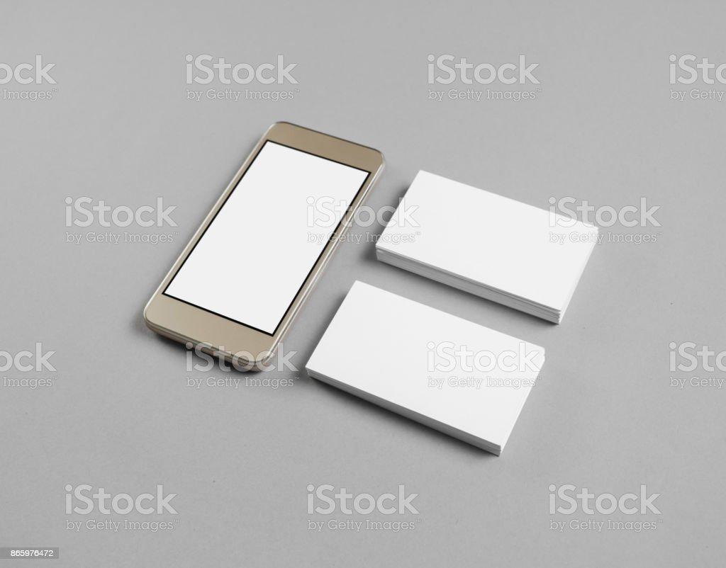 Smartphone Business Cards stock photo   iStock