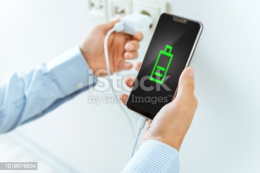 istock Smartphone charging 1018676834