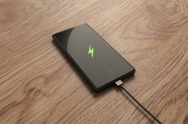 Smartphone Charging. stock photo