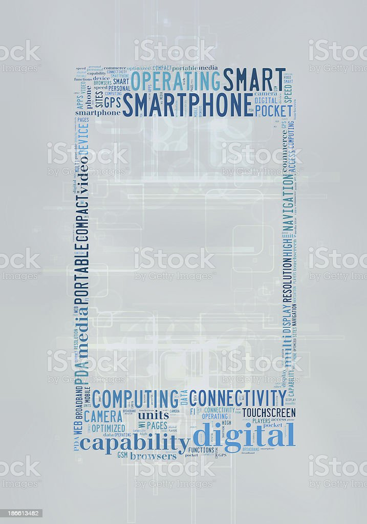 Smartphone concept royalty-free stock photo