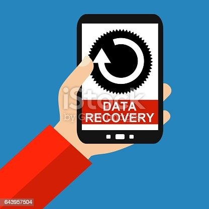 istock Smartphone: Data Recovery - Flat Design 643957504