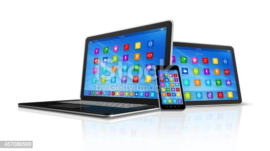 istock Smartphone, Digital Tablet Computer and Laptop 457086569